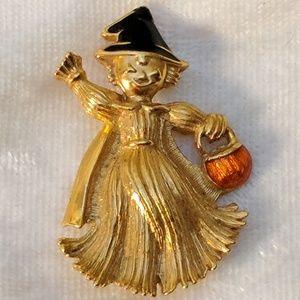Vintage Avon Witch Brooch Pin